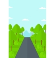 Background of green forest vector image vector image