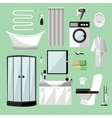 Bathroom interior furniture vector image
