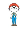 boy cartoon happy isolated design vector image