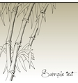 Branch of bamboo background for design vector image