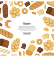 cartoon bakery elements background with vector image vector image