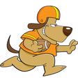 Cartoon Football Dog vector image vector image