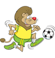 Cartoon Soccer Lion vector image vector image