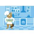 Cat cook vector image