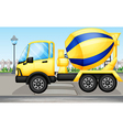 cement truck vector image vector image