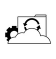 cloud computing folder file reload setting vector image vector image