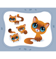 Collection of cartoon cats vector image vector image