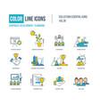 corporate development teamwork concept vector image vector image