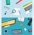 creative workplace design vector image vector image