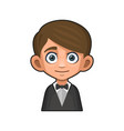 cute young man avatar boy in tuxedo and bow tie vector image