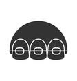 dental braces glyph icon vector image vector image