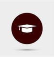 education icon simple sign vector image vector image