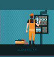 electrician holding measuring the power vector image vector image