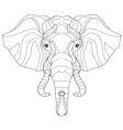 Elephant head doodle on white sketch vector image vector image