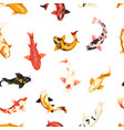 fish exotic cold blooded animals seamless pattern vector image vector image