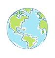 Globe kids Children Earth day vector image vector image