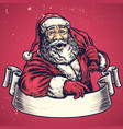 hand drawing of santa claus with text space vector image vector image