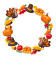 happy thanksgiving day frame vector image vector image
