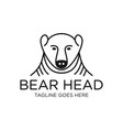 head bear outline logo vector image vector image
