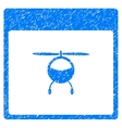 Helicopter Calendar Page Grainy Texture Icon vector image vector image