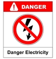 High Voltage Sign Danger symbol Black arrow vector image vector image