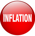 inflation red round gel isolated push button vector image vector image