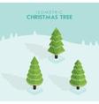 Isometric christmas tree vector image vector image