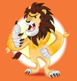 Lion King of Beast Mascot vector image