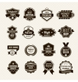 Luxury Labels Black vector image vector image