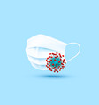 medical mask protection from virus medicine vector image