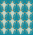 monstera tropical leaves seamless pattern vector image vector image