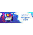 motion graphic design concept banner header vector image vector image