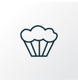 muffin icon line symbol premium quality isolated vector image vector image