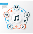 music icons set collection of dossier phonograph vector image vector image