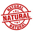 natural round red grunge stamp vector image vector image