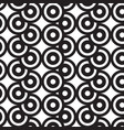 overlap circles black and white pattern vector image vector image
