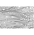 pattern for coloring book with hearts shapes vector image vector image