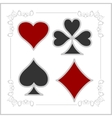 Playing card symbols with shadows set vector image