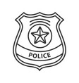 police detective badge linear icon vector image