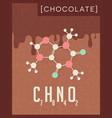 retro poster of chocolate cacao molecule vector image vector image