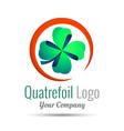 Saint Patrick quatrefoil luck symbol Business vector image