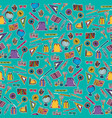 school design elements seamless pattern vector image