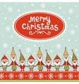 Seamless Christmas pattern with gnomes vector image vector image