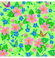Seamless pattern spring flowers