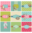 set colorful cards vector image