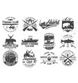 set hunting club and fishing club badges vector image vector image