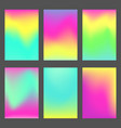 set of bright blue green and pink ui backgrounds vector image vector image