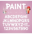 Set of Letters and Numbers Painted on a Wall vector image vector image