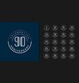 set premium anniversary logotype modern vector image vector image