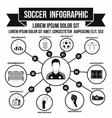 Soccer infographic simple style vector image vector image